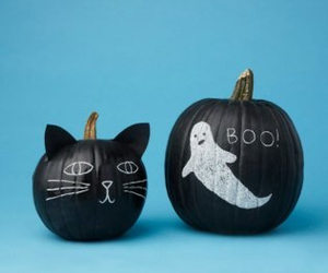 cat, ghost, and Halloween image