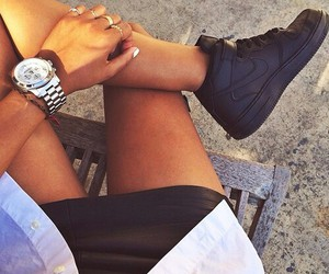 nails, rolex, and silver image