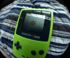 game, game boy, and pikachu image