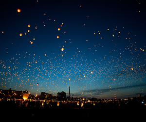 chinese lanterns, fly, and love image