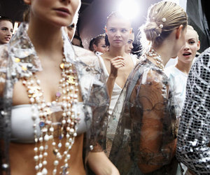chanel, model, and backstage image