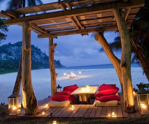 beach, romantic, and paradise image