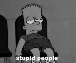 stupid, people, and black and white image