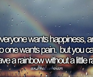 quote, rainbow, and andthatswhoiam image