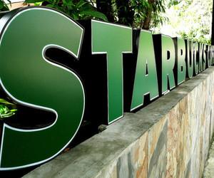 starbucks, coffee, and green image