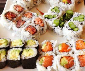 sushi, food, and yummy image