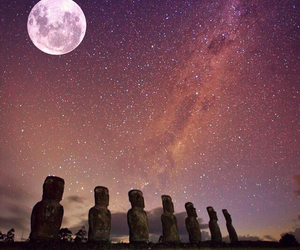 moon, beautiful, and stars image