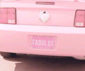 pink, car, and fabulous image