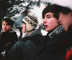 boy, winter, and snow image