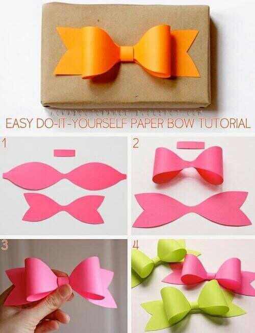 How to make paper Ribbon - How to fold a paper Bow - Easy origami ... | 652x500