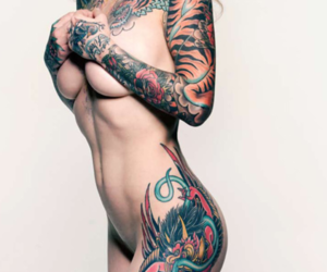 art, photography, and tattoo image