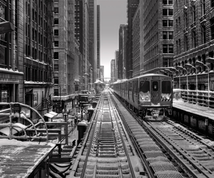 chicago, city, and train image