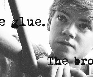 newt, the maze runner, and thomas sangster brodie image