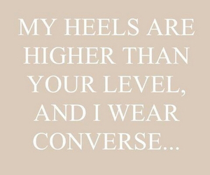 converse, heels, and lol image