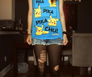 pikachu, girl, and pokemon image