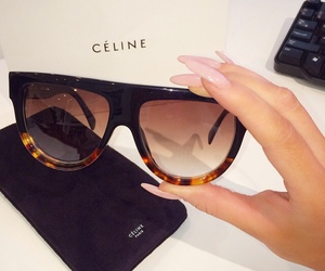 celine, sunglasses, and nails image
