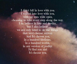 choice, love, and falling in love image