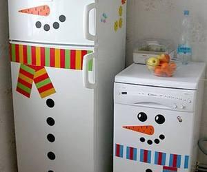 christmas, diy, and snowman image