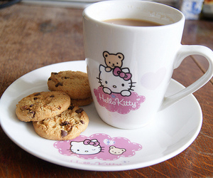 hello kitty, Cookies, and cup image
