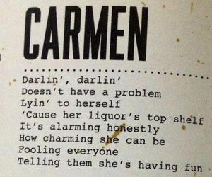 lana del rey, Carmen, and Lyrics image