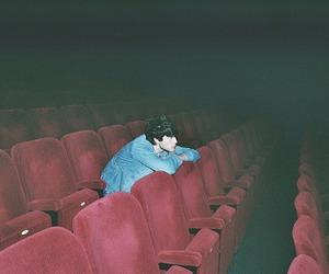 boy, cinema, and alone image