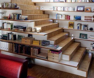 book, room, and stairs image