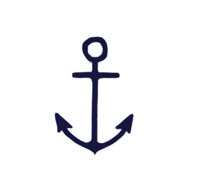 anchor, blue, and sea image