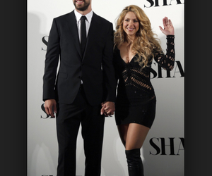 couple, shakira, and pique image