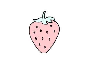 strawberry, overlay, and pink image