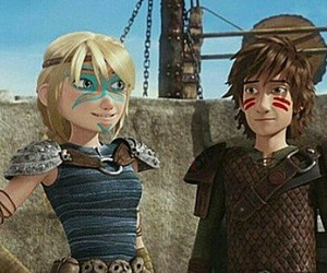 astrid, hiccup, and httyd image