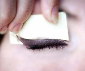 make up, makeup, and eyeliner image