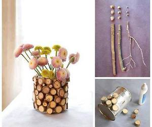 diy, flowers, and vase image