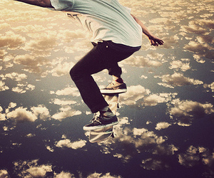 clouds, photography, and skate image
