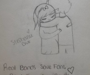 bands, drawing, and fans image