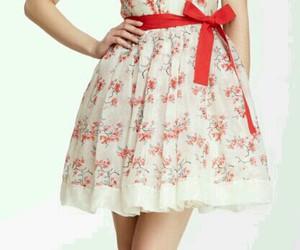 elegant, floral dress, and simple image