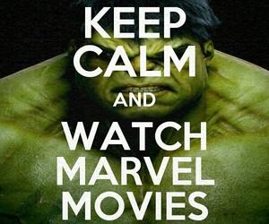 Hulk, keep calm, and Marvel image