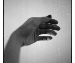 black and white, analog photography, and hand image
