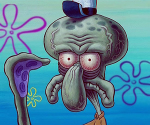 face, not, and squidward image