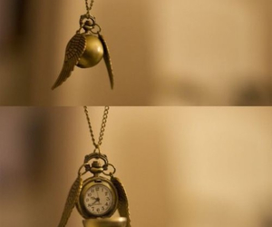 harry potter, clock, and necklace image