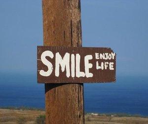 smile, life, and enjoy image