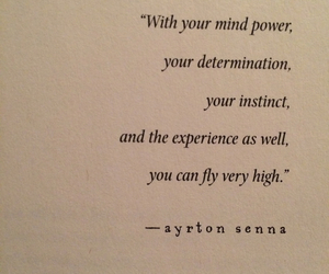 determination, instincts, and quote image