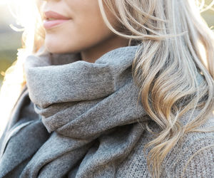 scarf, blonde, and girl image