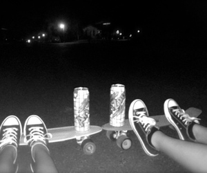 best friends, skateboarding, and black and white image