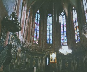 architecture and stained image
