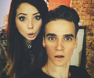 zoella, zoe sugg, and joe sugg image