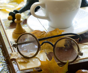 autumn, coffee, and glasses image