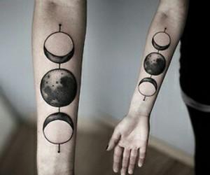 tattoo, moon, and grunge image