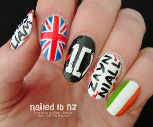 ireland, nail art, and 1d image