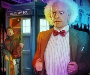 Back to the Future, doctor who, and tardis image