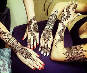 henna, tatoo, and tattoo image